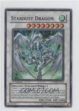 2009 Yu-Gi-Oh! Yusei Fudo Duelist Pack [Base] 1st Edition #DP08-EN014 - Stardust Dragon