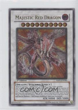 2010 Yu-Gi-Oh! Absolute Powerforce Booster Pack [Base] 1st Edition #ABPF-EN040.1 - Majestic Red Dragon (Ultimate Rare)
