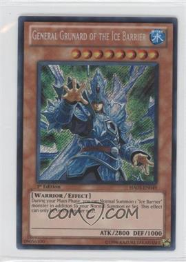2010 Yu-Gi-Oh! Hidden Arsenal 3 Booster Pack [Base] 1st Edition #HA03-EN049 - General Grunard of the Ice Barrier
