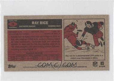 2012 Topps 1965 Mini #70 - Ray Rice - Courtesy of COMC.com