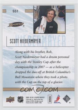 2009-10 Be A Player Sidelines #S51 - Scott Niedermayer - Courtesy of COMC.com