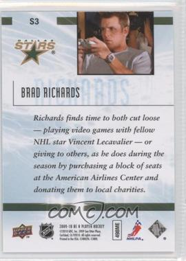 2009-10 Be A Player Sidelines #S3 - Brad Richards - Courtesy of COMC.com