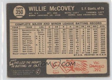 1964 Topps Venezuelan #350 - Willie McCovey [Good to VG‑EX] - Courtesy of COMC.com