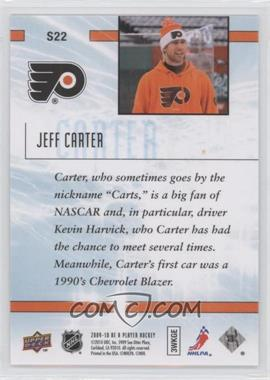 2009-10 Be A Player Sidelines #S22 - Jeff Carter - Courtesy of COMC.com