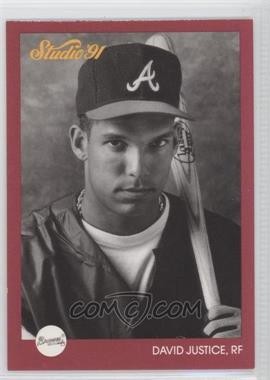 1991 Studio Previews #10 - David Justice - Courtesy of COMC.com