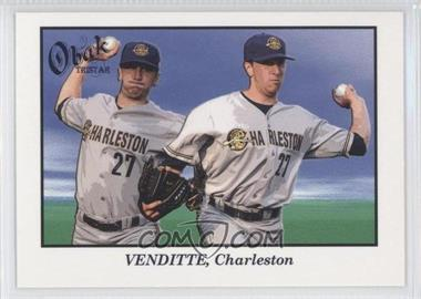 2009 TRISTAR Obak #28a - Pat Venditte/Throwing left and right - Courtesy of COMC.com