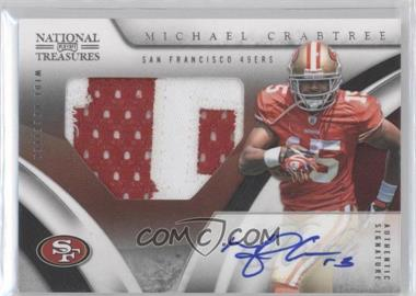 2009 Playoff National Treasures #122 - Michael Crabtree JSY AU RC (Rookie Card)/99 - Courtesy of CheckOutMyCards.com