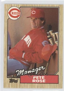 1987 Topps Tiffany #393 - Pete Rose MG/TC - Courtesy of COMC.com