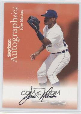 2000 SkyBox Autographics #83 - Jose Macias - Courtesy of COMC.com
