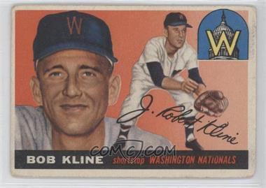 1955 Topps #173 - Bob Kline RC (Rookie Card) - Courtesy of CheckOutMyCards.com