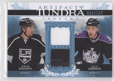 2009-10 Artifacts Tundra Tandems #TTJD - Drew Doughty Jack Johnson/100 - Courtesy of CheckOutMyCards.com