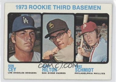1973 Topps #615 - Rookie Third Basemen/Ron Cey/John Hilton RC (Rookie Card)/Mike Schmidt RC (Rookie Card) - Courtesy of COMC.com