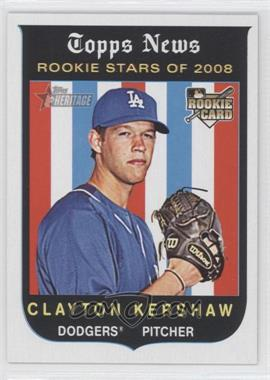 2008 Topps Heritage #595 - Clayton Kershaw RC (Rookie Card) - Courtesy of COMC.com