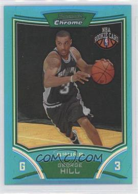 2008-09 Bowman Chrome Refractors Blue #134 - George Hill/99 - Courtesy of CheckOutMyCards.com