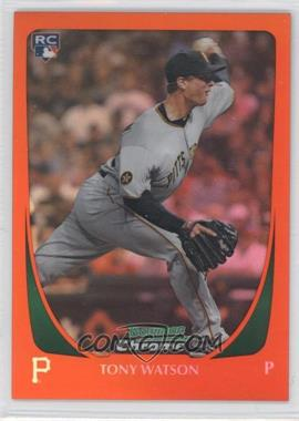 2011 Bowman Chrome Draft Orange Refractors #92 - Tony Watson/25 - Courtesy of COMC.com