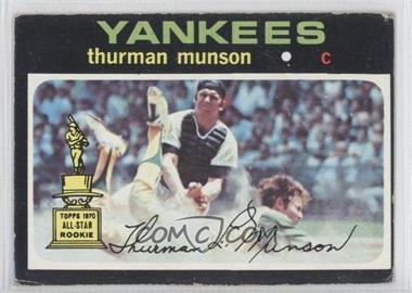 1971 Topps #5 - Thurman Munson - Courtesy of COMC.com