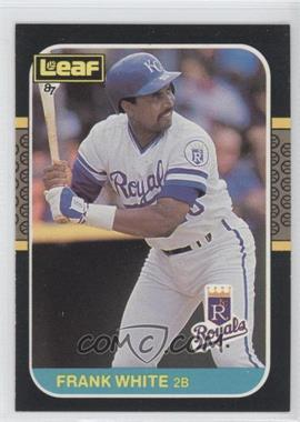 1987 Leaf/Donruss #188 - Frank White - Courtesy of COMC.com