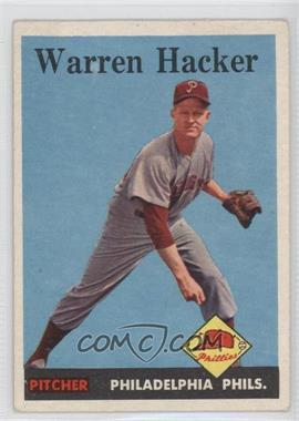 1958 Topps #251 - Warren Hacker [Good to VG‑EX] - Courtesy of COMC.com
