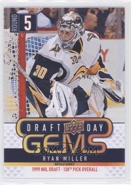 2009-10 Upper Deck Draft Day Gems #GEM12 - Ryan Miller - Courtesy of CheckOutMyCards.com