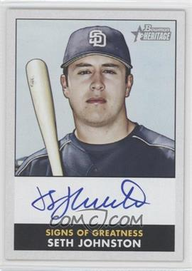 2007 Bowman Heritage Signs of Greatness #SJ - Seth Johnston G - Courtesy of COMC.com