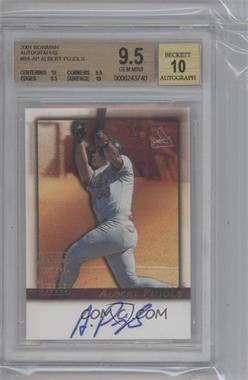 2001 Bowman Autographs #BAAP - Albert Pujols Beckett Graded 9.5 - Courtesy of CheckOutMyCards.com