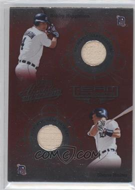 2002 Absolute Memorabilia Team Tandems Materials #12 - Bobby Higginson Bat/Shane Halter Bat - Courtesy of COMC.com