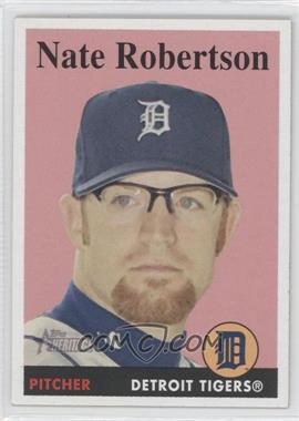2007 Topps Heritage #282 - Nate Robertson - Courtesy of COMC.com