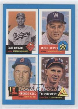1992 Bazooka Quadracard '53 Archives #11 - Carl Erskine, Jackie Jensen, George Kell, Red Schoendienst - Courtesy of CheckOutMyCards.com