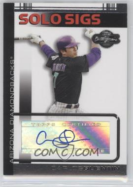2007 Topps Co-Signers Solo Sigs #CQ - Carlos Quentin A - Courtesy of CheckOutMyCards.com