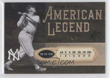 2008 SPx Babe Ruth American Legend #BR20 - Babe Ruth/1 - Courtesy of CheckOutMyCards.com