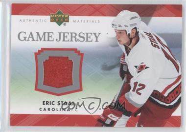 2007-08 Upper Deck Game Jerseys #JES - Eric Staal - Courtesy of CheckOutMyCards.com