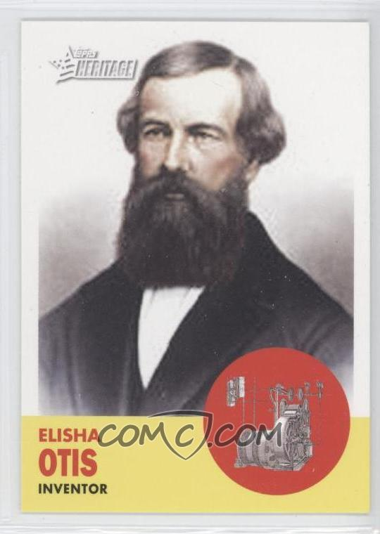 elisha otis I'd seen that name before, of course indeed, i had stepped over it several times a day going in and out of my apartment building's elevator but i'd never thought about the person behind.