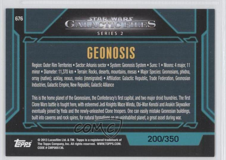 Details about 2013 Topps Star Wars Galactic Files Series 2 Blue #676 on star wars home planet, obi-wan kenobi home planet, anakin skywalker home planet, bothan home planet,