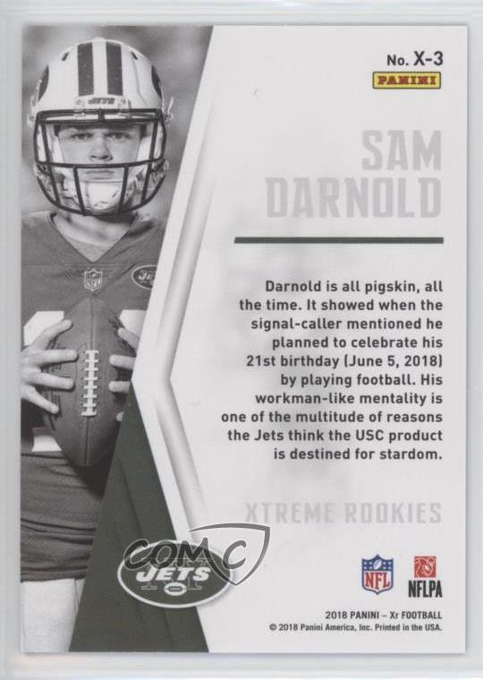 Details about 2018 Panini XR Xtreme Rookies Blue/49 #X-3 Sam Darnold New  York Jets Rookie Card