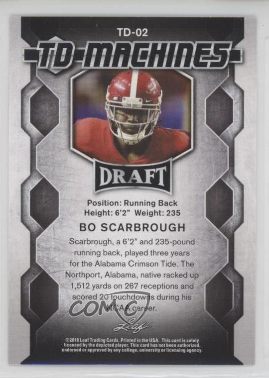 887d742a5 Representative Image - Select Specific Item above to see image of actual  item. COMC Item  57362954 - Rookie - Football Card - Featuring Bo Scarbrough