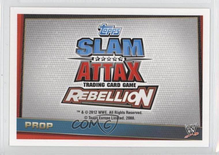 Slam attax rebellion #193 Microphone-prop