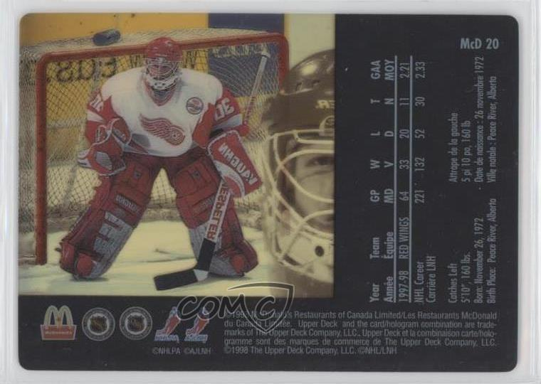 Ebay Canada Carte Hockey.Details About 1998 99 Upper Deck Mcdonald S Ice Mcd20 Chris Osgood Detroit Red Wings Card