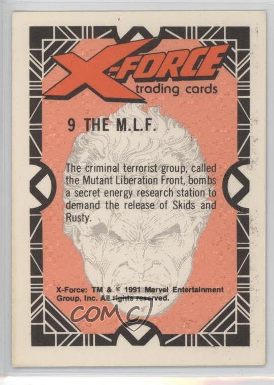 1991 Marvel X Force 9 The MLF Non Sports Card 1k3
