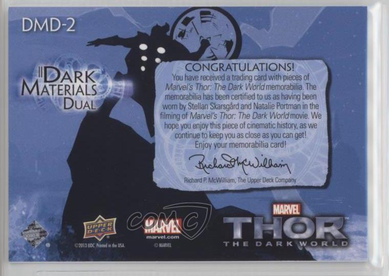 2013 Upper Deck Thor: o Mundo Sombrio materiais Dual #DMD-2