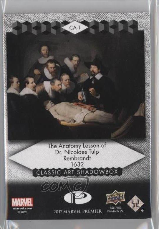 2017 Ca 1 Iron Man The Anatomy Lesson Of Dr Nicolaes Tulp Dr Card