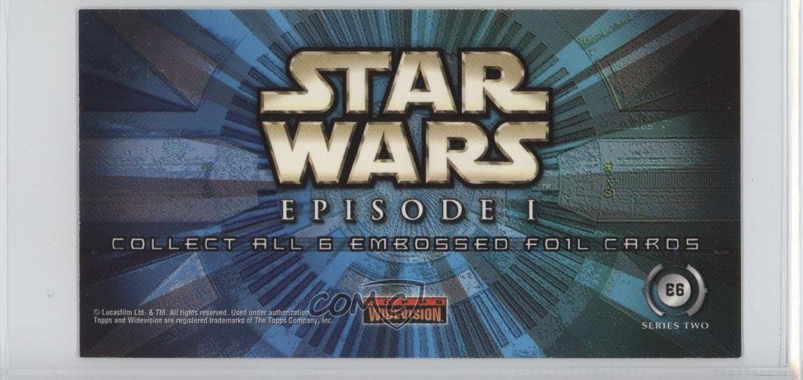 Details About 1999 Topps Star Wars Episode 1 Widevision Series 2 E6 Boss Nass Card D8k