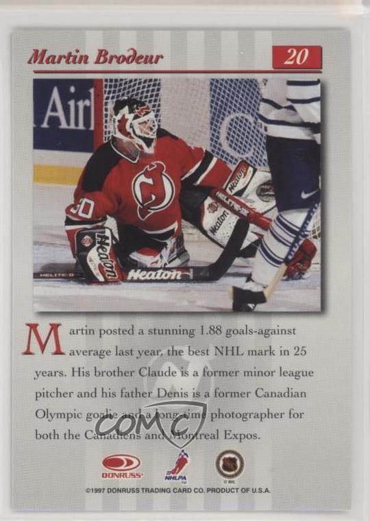 Details About 1997 98 Donruss Studio 20 Martin Brodeur New Jersey Devils Hockey Card