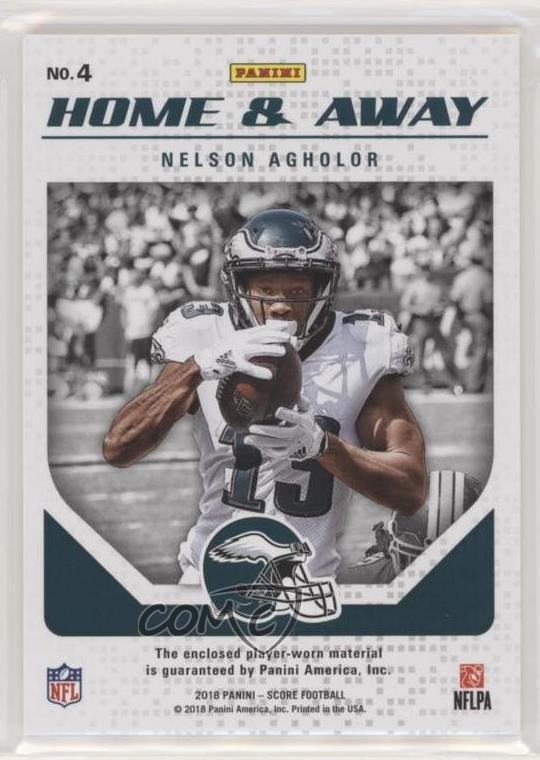 eb521641 Details about 2018 Score Home and Away #4 Nelson Agholor Philadelphia  Eagles Football Card