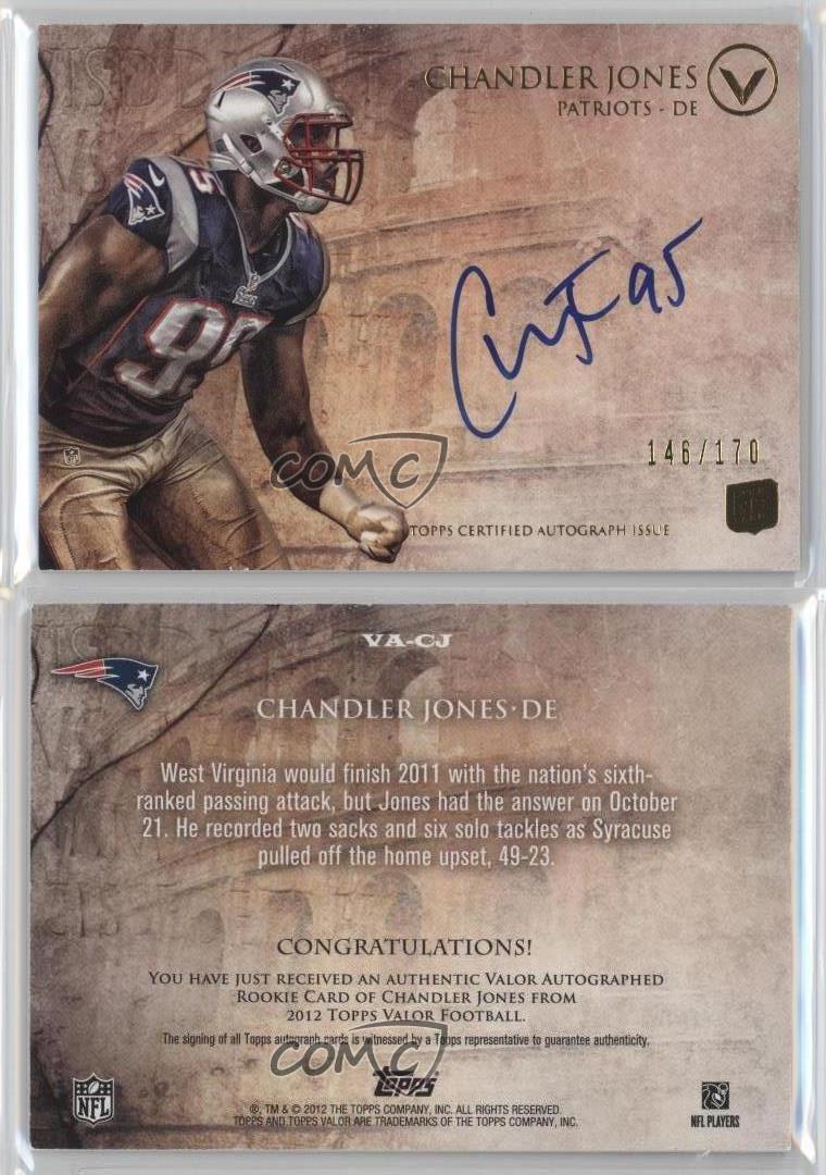 2012-Topps-Valor-Autograph-Rookie-VA-CJ-Chandler-Jones-New-England-Patriots-Auto