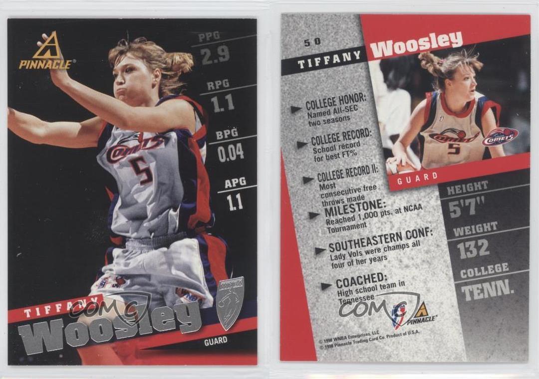 1998-99 Pinnacle WNBA #50 Tiffany Woosley Houston Comets (WNBA ...
