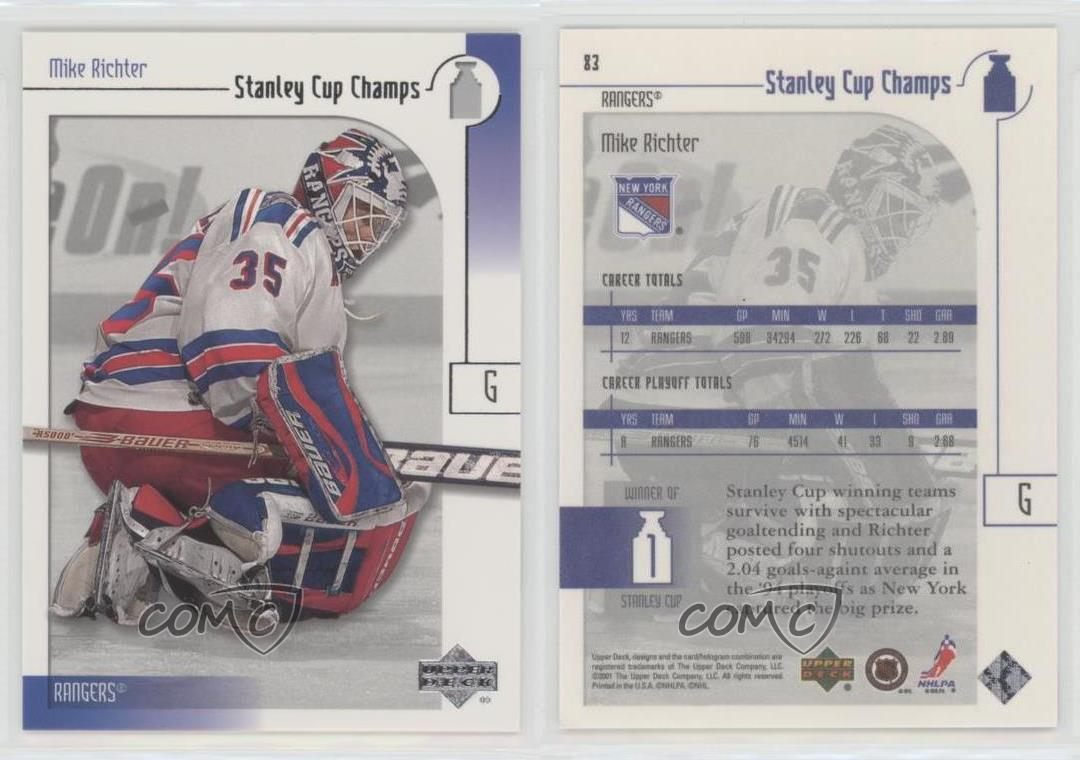 2001-Upper-Deck-Stanley-Cup-Champs-83-Mike-Richter-New-York-Rangers-Hockey-Card