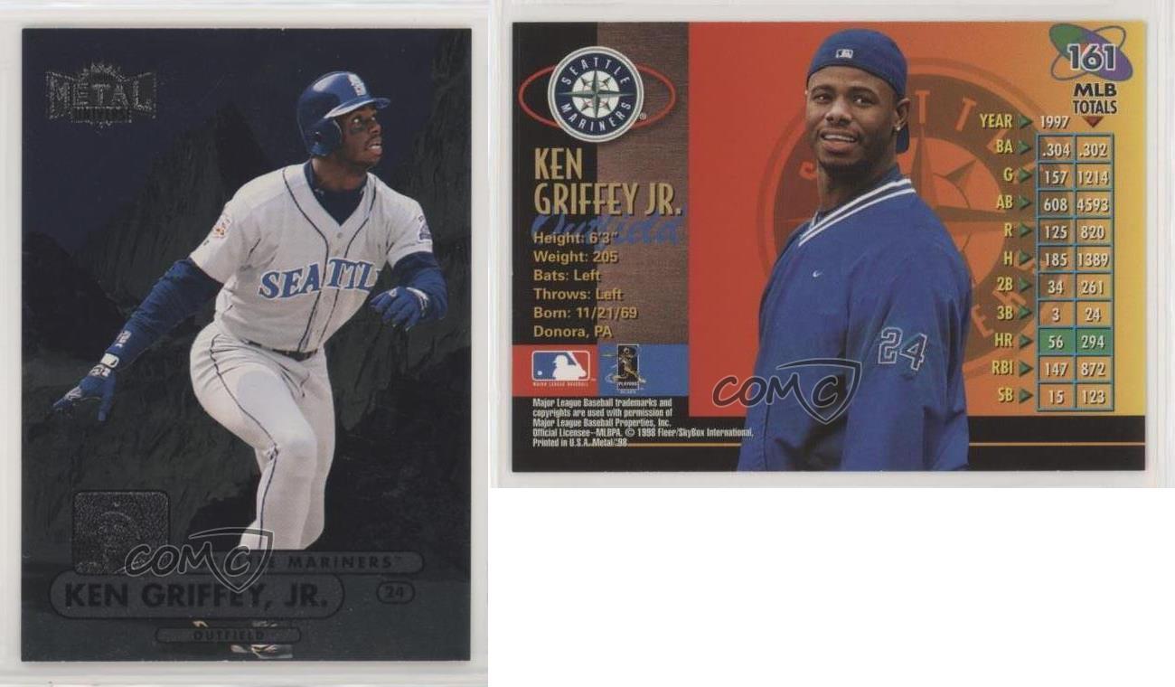 1998 Metal Universe #206 Ken Griffey Jr Seattle Mariners Baseball Card
