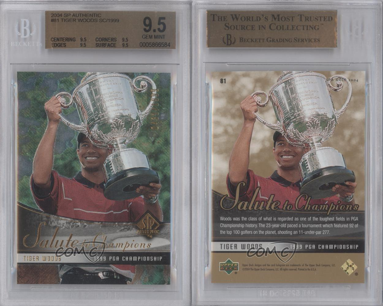 2004-SP-Authentic-81-Tiger-Woods-BGS-9-5-GEM-MINT-Golf-Card