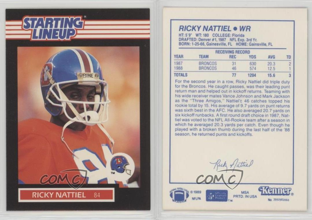 thumbnail 4 - 1989 Kenner Starting Lineup Ricky Nattiel