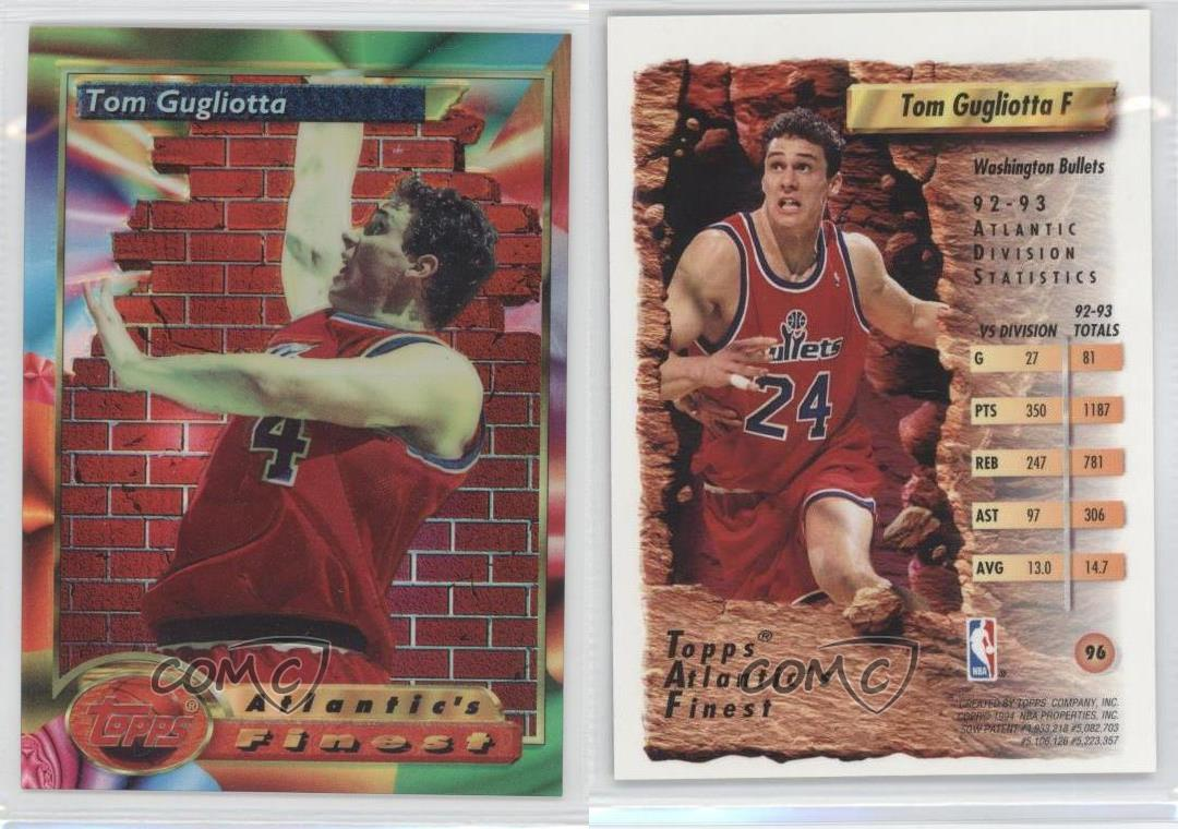 1993 Topps Finest Refractor 96 Tom Gugliotta Washington Bullets